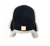Мужская шапка из дубленочной овчины.