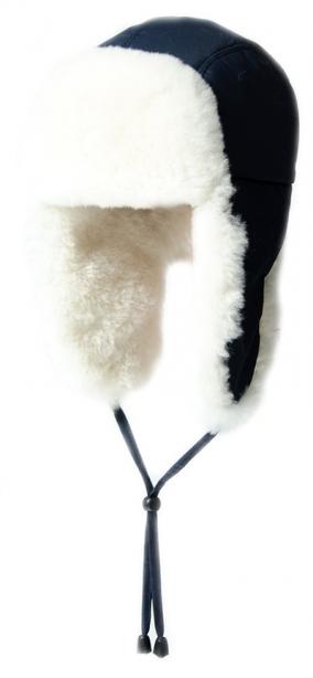 шапка детская +натуральный мех +из овчины