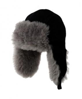 Мужская шапка из дубленочной овчины. +меховая +ушанка